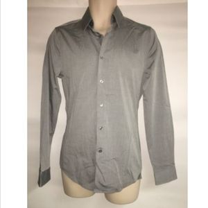 Express 1MX Button Front Dress Shirt Fitted XS